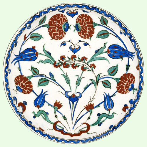 Ashmolean Museum of Art and Archaeology, University of Oxford © Roses and Tulips Plate
