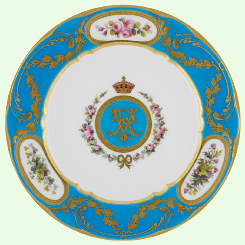 The Royal Collection ©� The Queen Victoria Dessert Plate